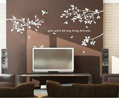 80inch birds treeRemovable Graphic Art wall decals por ccnever