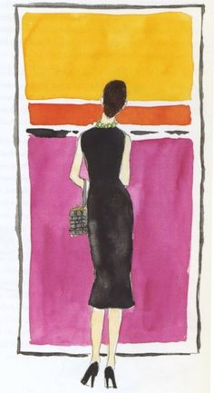 Admiring a Rothko.