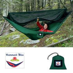 Coolest camping hammock/tent I have ever seen...keeps the bugs out!