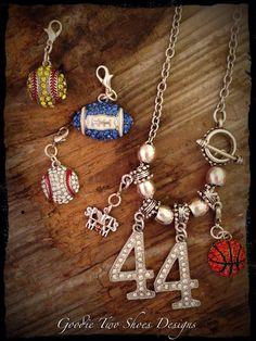Sports Mom Rhinestone Necklace, Basketball Mom, Baseball Mom, Football Mom on Etsy, $28.00