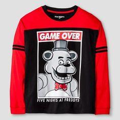 Boys' Five Nights at Freddy's Long Sleeve T-Shirt Black : Target