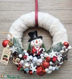 Ajtódísz (ranyomlak) - Meska.hu Decoupage, Christmas Wreaths, Holiday Decor, Diy, Home Decor, Decoration Home, Bricolage, Room Decor, Diys