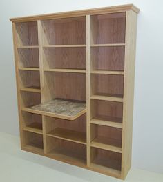 Solid Maple Knock Down Bookshelf With Glass Doors Canarycabinets