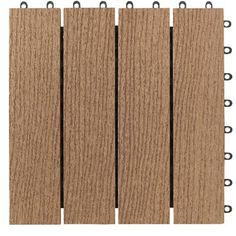 Costco Simpli Deck Tiles® Rustic Grey Or Dark Brown Interlocking Deck Tiles