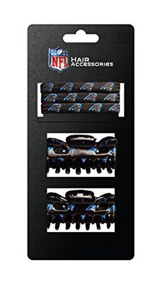 NFL Officially Licensed Carolina Panthers 2-Hair Clips and 3-Elastic Ponytail Bands  http://allstarsportsfan.com/product/nfl-officially-licensed-carolina-panthers-2-hair-clips-and-3-elastic-ponytail-bands/  Officially Licensed by the National Football League (NFL) Made of elastic Team Printed graphics