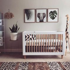 Pokój dziecka w stylu kolonialnym. Aż chce się jechać na safari! #babyroom #nurserydecor #nursery #boho #bohostyle #design #print #monstera #safari
