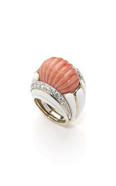 David Webb ~ Fluted Coral Ring