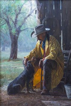 Somerset Fine Art - More Than Friends by Martin Grelle kK Cowgirls, Photomontage, Real Cowboys, Guache, Le Far West, Cowboy And Cowgirl, Mountain Man, Native American Art, Rodeo