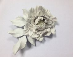 #leatherflower #bridalflower #whiteflower #handmadeflower