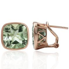 1294ct Natural Green Amethyst Rose Gold Plated 925 Sterling Silver Omega Post Earrings *** You can get more details by clicking on the image.(This is an Amazon affiliate link and I receive a commission for the sales)