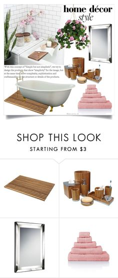 """""""Turn Your Bathroom Into a Spa"""" by clotheshawg ❤ liked on Polyvore featuring interior, interiors, interior design, home, home decor, interior decorating, Skagerak, Nu Steel, Chelsom and Nearly Natural"""