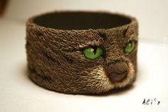 Кошкобраслет - кот,браслет,полимерная глина fimo,кошка,кошкобраслет,сплошной браслет