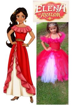 Princess Elena of Avalor Inspired Costume Tutu  Dress by AngelinaRoseInspired on Etsy https://www.etsy.com/listing/467090185/princess-elena-of-avalor-inspired