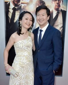 "Tran Jeong (L) and actor Ken Jeong attend the premiere of Warner Bros. Pictures' ""Hangover Part at Westwood Village Theater on May 2013 in Westwood, California. Hangover Part 3, Ken Jeong, Westwood California, Westwood Village, Backdrop Background, Warner Bros, Theater, Backdrops, Actors"