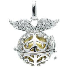 Klangkugel gold mit Flügeln - Engelsflüsterer - inkl. 70 cm Halskette