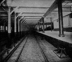 18th Street - 18 St was chosen as a typical station for publicity photos, perhaps because it had no unusual features.  In stark contrast to the modern photo, the view from the front of a train, just before opening in 1904, shows a well lit station ready for passengers.