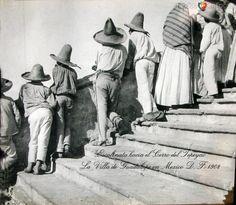 Fotos de Ciudad de México, Distrito Federal, México: Escalinata Villa de Guadalupe 1908