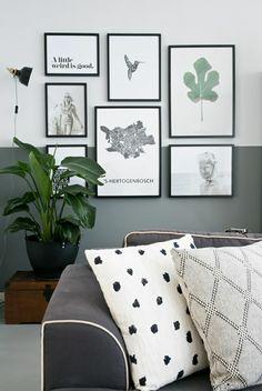 Fox andsome living room art, inspiration wall, gallery wall, half painted w Room, Living Room Paint, Half Walls, Half Painted Walls, Living Room Decor, Living Room Art, Wall Painting, Living Room Wall, Living Decor