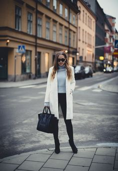 Shoes from Jennie-Ellen // coat from Nelly // jeans from Dr.Denim // Céline bag // Prada sunglasses // Acne sweater