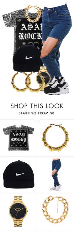 """""""Sans titre #363"""" by lesliekabengele ❤ liked on Polyvore featuring NIKE, Nixon and Forever 21"""