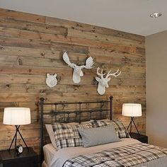 Boys room with reclaimed pallet wall and industrial lights. Description from pinterest.com. I searched for this on bing.com/images