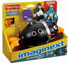 Amazon.com: Fisher-Price Imaginext Super Friends Penguin and Batman: Toys & Games