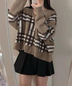 Korean Girl Fashion, Ulzzang Fashion, Kpop Fashion Outfits, Korean Outfits, Kawaii Fashion, Cute Fashion, Look Fashion, Cute Casual Outfits, Pretty Outfits