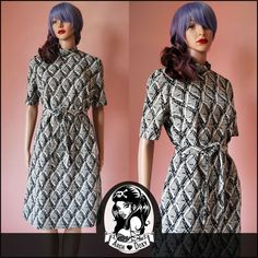Last Chance to buy :)x Vintage Original 1960's Textured Shift Twiggy MOD Monochrome Mini Dress #vintageclothing http://www.ebay.co.uk/itm/Vintage-Original-1960s-Textured-Shift-Twiggy-MOD-Monochrome-Mini-SKA-Dress-14-/371487198896?ssPageName=STRK:MESE:IT