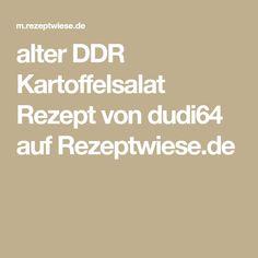 alter DDR Kartoffelsalat Rezept von dudi64 auf Rezeptwiese.de