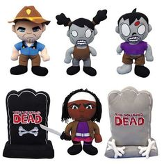 """6 Piece Set THE Walking Dead 11.5"""" Plush Figures: These small survivors and tiny terrors are great for cuddling or clutching."""