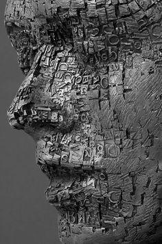 Skulpturen 1 in Bronze und Stein Metallic Sculpture : Palimpsest (detail) by Dale Dunning The Secret Land Art, Sculpture Metal, Sculpture Ideas, Oeuvre D'art, Installation Art, Amazing Art, Sculpting, Cool Art, Contemporary Art