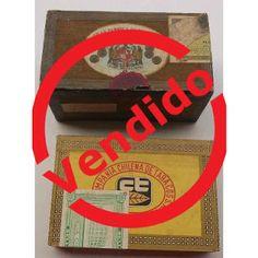 Paraíso del Libro Usado: 2 Antiguas Cajas De Tabaco/cigarros De Madera Chil...