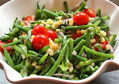This simple summery saladwill be perfect atyour next cookout or potluck. The fresh flavors will compliment a variety of foods. For the vinaigrette, I didn't mess witha mortar and pestle to mash the garlic. Instead, I just smashed the garli