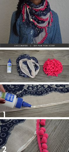 DIY | POM POM SCARF, or just sew it :) This is so easy it makes me wish I had thought of it!!