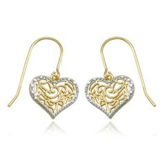 18k Yellow Gold Plated Sterling Silver Diamond-Accent Heart Earrings Amazon Curated Collection. $29.00. Made in China. Save 55% Off!
