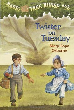 Twister on Tuesday (Magic Tree House, No. 23) by Mary Pope Osborne http://www.amazon.com/dp/0679890696/ref=cm_sw_r_pi_dp_Fu7jub1YYH7R9