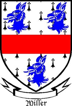 "occupational coat of arms | Miller Coat of Arms  Family motto should read: ""Vis Gregis Est Lupus.""  (The strength of the Pack is the Wolf.)"