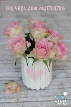 DIY Vase zum #Muttertag // Vase aus Eisstilen // DIY flower Vase for Mothersday #Muttertagsgeschenk #Upcycling #mothersday #DIY