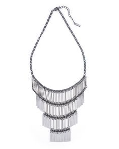 Ladder Fringe Necklace by JewelMint