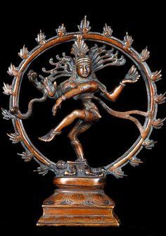 "Brass Shiva Nataraja Statue 9"""
