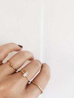 delicate minimalist jewelry by @bingbangnyc