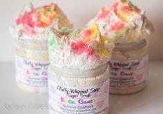 Vegan fluffy Whipped Soap Sugar Scrub Rock Candy by XplosiveCosmetiX