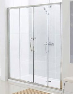 Classic Silver Semi Frame-less Double Slider Door 1800mm - LKV2DS180 05