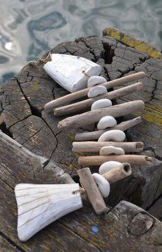 Móvil colgante pez de madera flotante  -   Driftwood hanging fish mobile