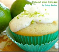 Delicious coconut lime cupcakes!! #cupcake #dessert #coconut