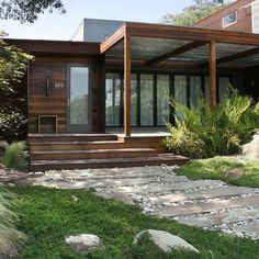 Best Ideas For Modern House Design & Architecture : – Picture : – Description Mid Century Front Porch Door Design, Pictures, Remodel, Decor and Ideas – page 4 Modern Front Porches, Modern Front Door, Modern Entry, Modern Exterior, Exterior Design, Door Design, House Design, Path Design, Entrance Design