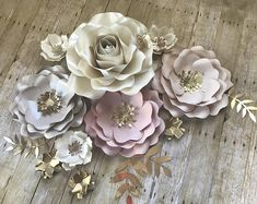 Paper Flowers Backdrop set of 14 items