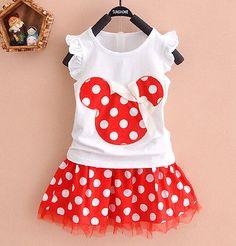 Mini vestido 0-4y Minnie Mouse Niños Niñas Princesa Ropa partido de la historieta del bebé