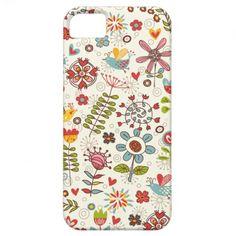Girly #Fun #Bird and #Flower #iPhone 5 Case