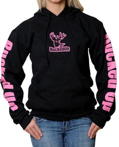 Image detail for -NEW BUCKED UP HOODIE! Black & Pink (Auction ID: 105762, End Time : Jan ...